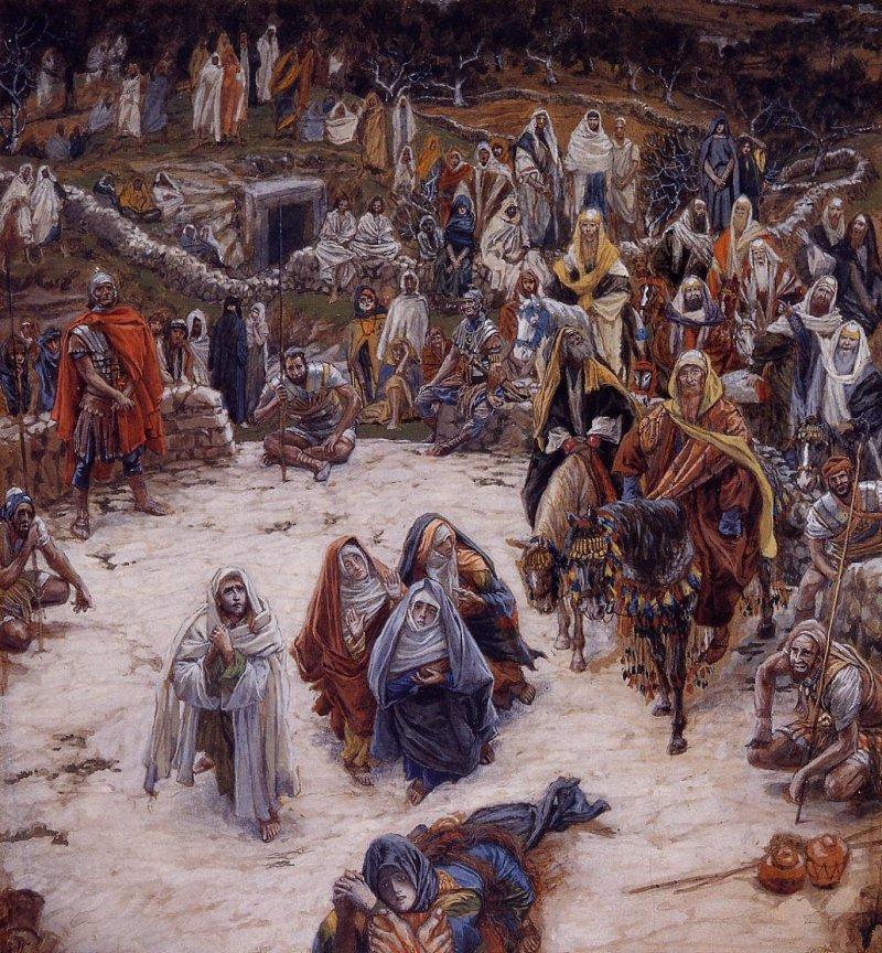 Vue depuis la Croix(Vista desde la Cruz, James Tissot (francés, 1886-94)